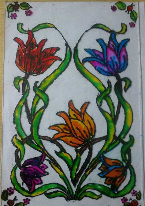 glass painting farah creations glass painting workshop conducted for