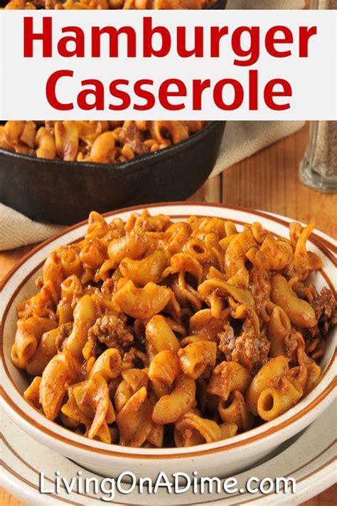 easy crockpot hamburger casserole recipe 10 dinners for 5 cheap dinner recipes and ideas