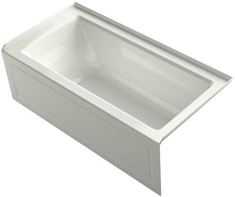 kohler archer bathtub kohler k1946ra archer three wall alcove soaking tub with