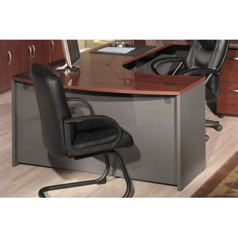 bow front desk with return bush business series c right hand bow front desk with