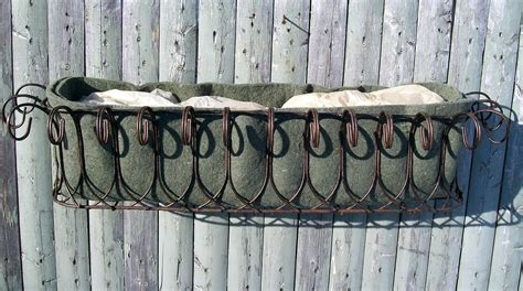 Wire Window Planters by Wrought Iron Country Wire Window Boxes