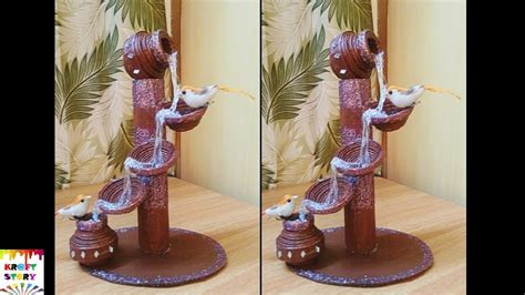 How To Make Showpiece With Paper - diy newspaper waterfall showpiece phim22