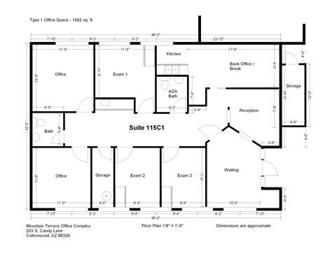 small space floor plans floor plans mountain terrace professional office space for