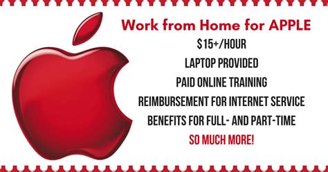 make 15 hr working from home for apple computer
