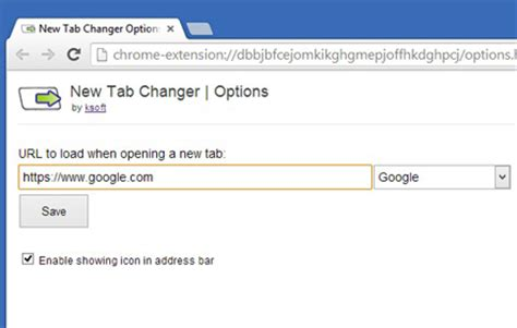 new tab changer redirect new tabs to a custom url