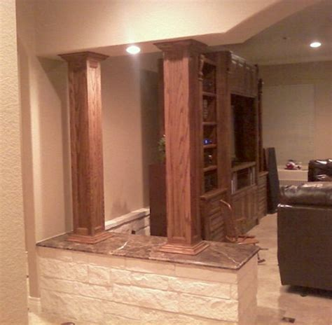 Wood Columns Interior by Elite Trimworks Inc Store For Wainscoting
