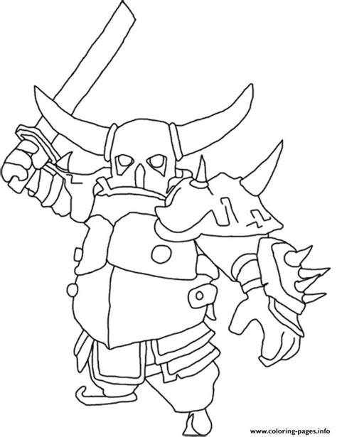 barbarian king coloring pages free clash of clans coloring pages collection printable