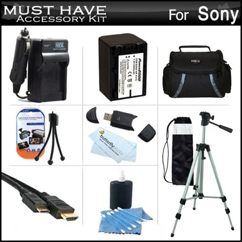 Sony Value Kit Acc Bbv5 Baterai Sony Np Fv50 Sony Lcs Bbd Ori buy us buy must accessory kit for sony hdr pj260v hdr pj200 hd handycam camcorder with