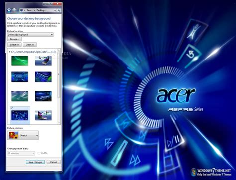 desktop themes for acer acer windows 7 theme download