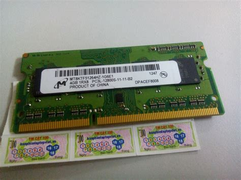 Ram Laptop Ddr3l 4gb ram laptop micron mt 4gb ddr3l 1600 pc3l 12800s 1 35v