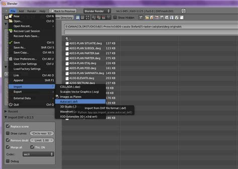 dwg format blender dxf file editor