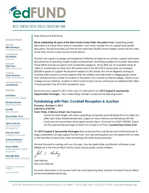 Annual Fund Solicitation Letter Exles