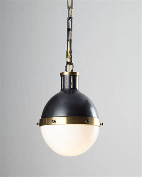 Hicks Pendant Light Visual Comfort Hicks Bronze With Antiqued Brass Pendant Light