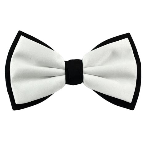 bow ties white black coloured bow tie from ties planet uk