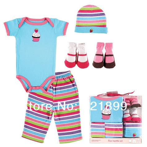 Bedong Luvable Planel 5 Pcs 5pcs lot luvable friends newborn baby clothing set car cover summer baby and boy layette