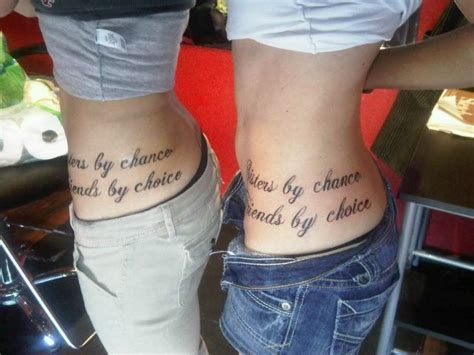sisters by chance friends by choice tattoo quot by chance friends by choice