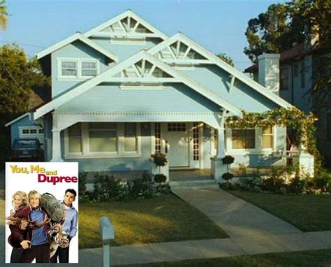 dupree house the blue craftsman bungalow in quot you me and dupree quot hooked on houses