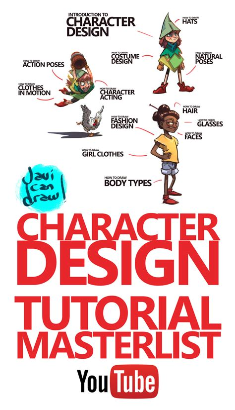 tutorial design character character design tutorial masterlist on youtube by