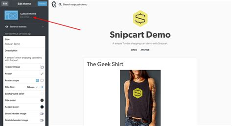 theme editor tumblr a tumblr shopping cart for real quick e commerce snipcart