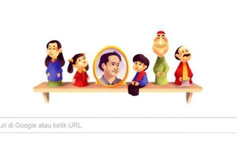 tokoh film unyil pak raden jadi doodle google hari ini republika online