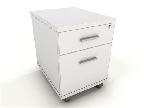 Office Desk With Drawers White 2 Drawer Desk Mobile Pedestal Icarus Office Furniture