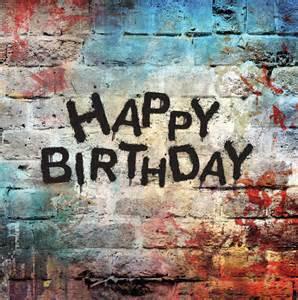Happy Birthday Wishes On Wall Happy Birthday Graffiti Wall Cheeky Pink Cards