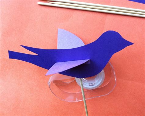 How To Make A Bird Out Of Construction Paper - we bloom here a puppet tutorial for children bird