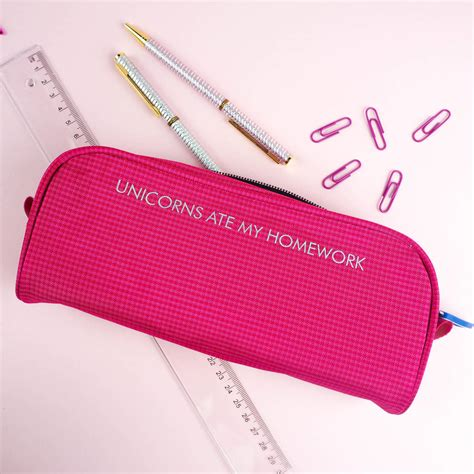 my ate a pencil unicorns ate my homework pencil by rock on ruby notonthehighstreet
