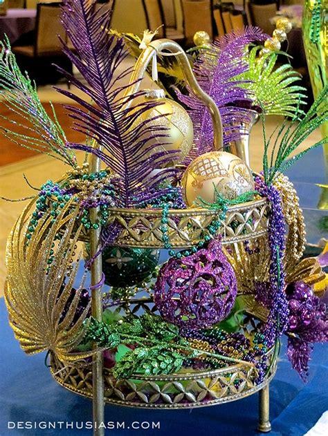 mardi gras table decorations decorating with mardi gras centerpieces