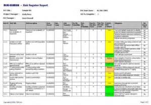 risk assessment register template related keywords suggestions for it risk register exles