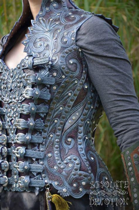 Absolute Devotion blue purple silver leather armor elven buckles larp