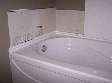 How To Install An Acrylic Bathtub by Installing A Bathtub Surround 171 Bathroom Design