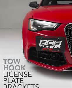 ecs tuning new tow hook license plate bracket kits