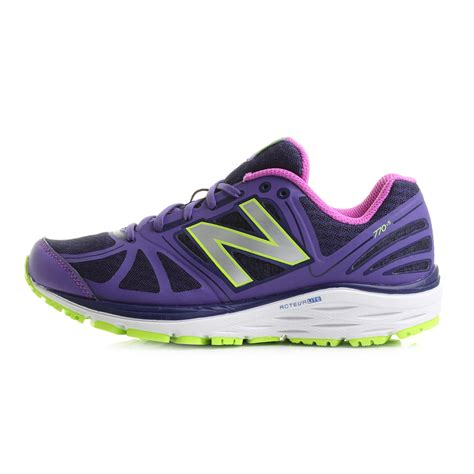 womens purple athletic shoes womens new balance 770v5 purple white lime running