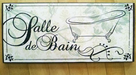 french bathroom sign salle de bain sign french bathroom decor victorian french