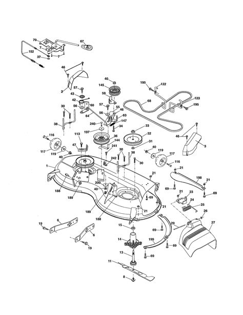 husqvarna lawn tractor parts diagram mower deck diagram parts list for model yth20k46