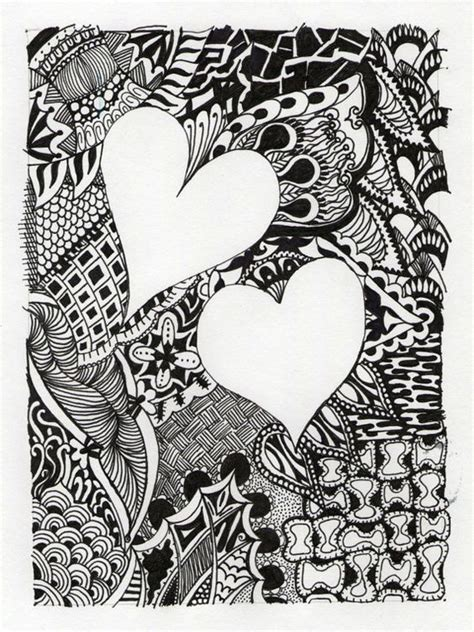 abstract doodle ideas hearts abstract personalized drawing title by