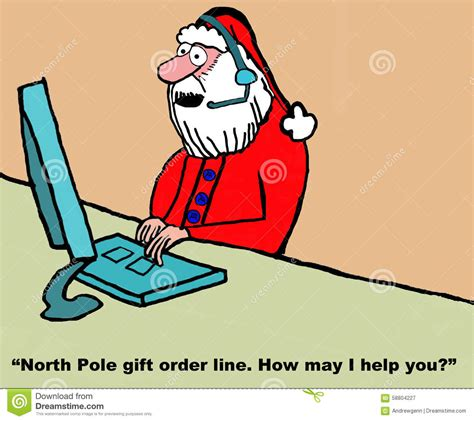 santa is customer service rep stock image image 58804227