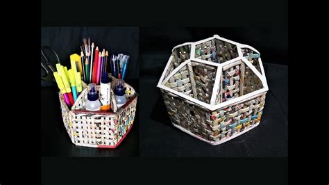 how to make desk organizers how to make a desk organizer using newspaper and cardboard