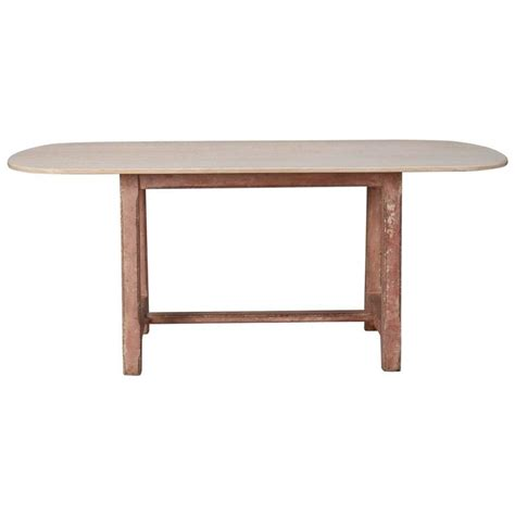 Bleached Dining Table Bleached Dining Table With Painted Base For Sale At 1stdibs