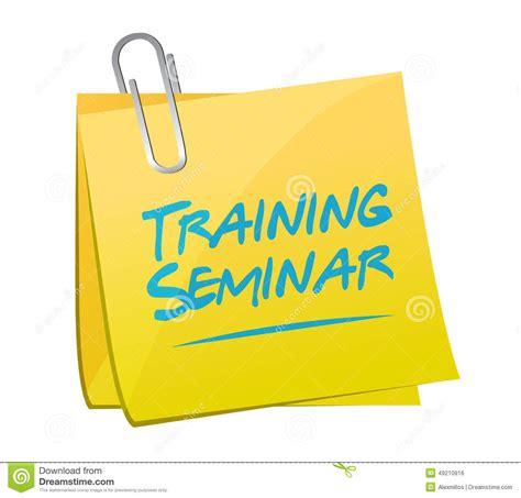 design arts seminars training seminar memo post illustration design stock
