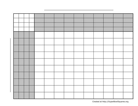 Super Bowl Squares Template Doliquid Squares Template