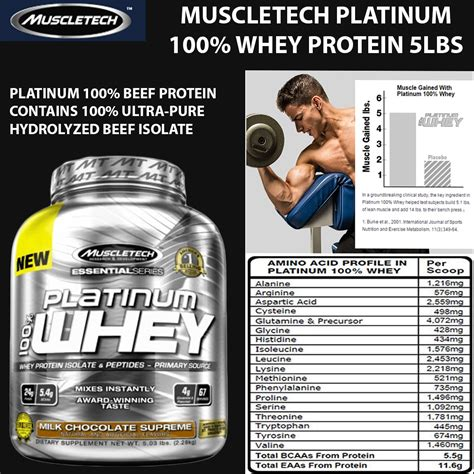 Muscletech Platinum Whey Protein Muscletech Platinum Isolate Whey Nutrition Facts