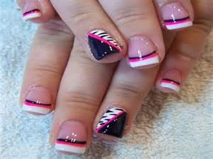gallery for gt white tip nails with design