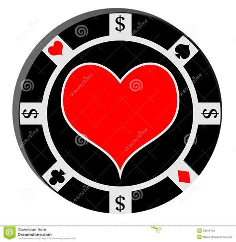 poker chip  heart stock illustration illustration