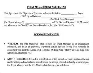 Event Management Agreement Template event contract template 18 free word excel pdf