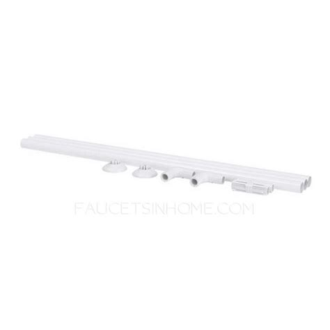 35 inch shower curtain rod simple white painting flexible 35 4 68 9 inch shower