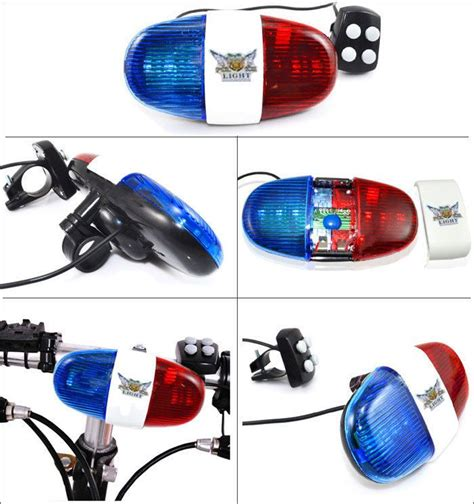 police bicycle lights and siren bike police light electric horn siren 4 melody 4
