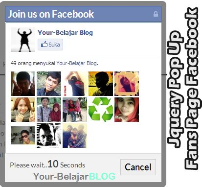 membuat page facebook lebih menarik cara membuat jquery pop up fans page facebook info menarik