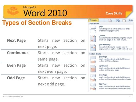 section breaks word section breaks word 28 images start page numbering in